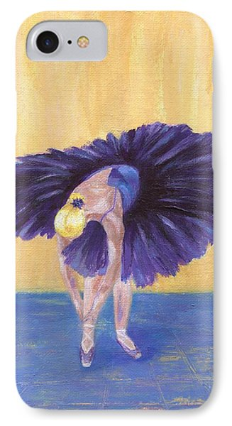 IPhone Case featuring the painting Purple Ballerina by Jamie Frier