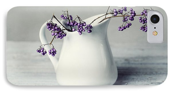 Purple Berries IPhone Case by Nailia Schwarz