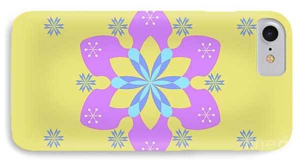 Purple, Blue And Yellow Abstract Star IPhone Case by Pablo Franchi