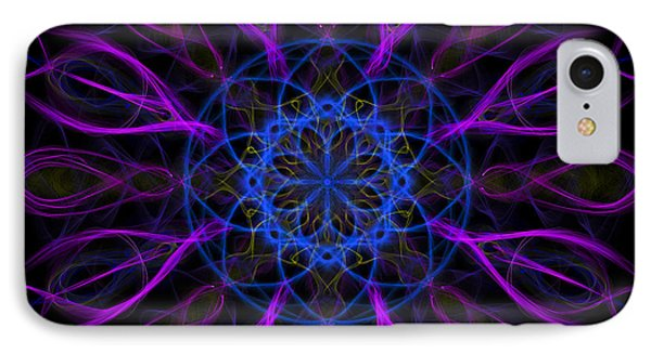 IPhone 7 Case featuring the photograph Purple Blue Kaleidoscope Square by Adam Romanowicz