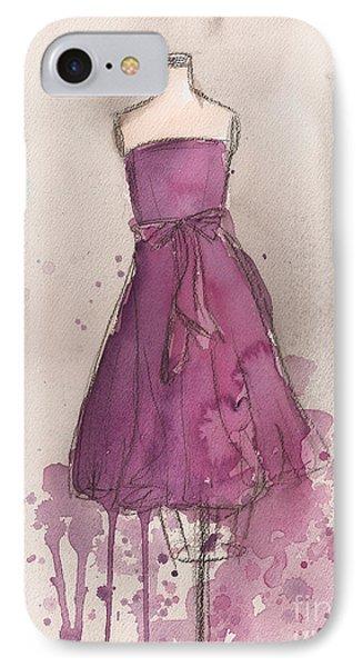 Purple Bow Dress IPhone Case by Lauren Maurer