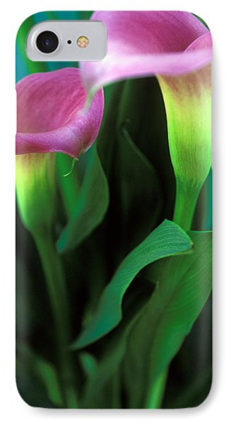Purple Calla Duet Phone Case by Kathy Yates