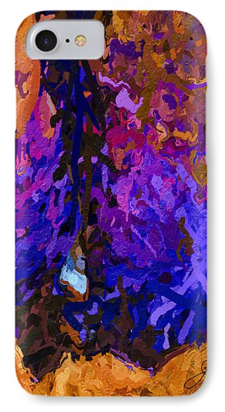 IPhone Case featuring the painting Purple Cave by Joan Reese