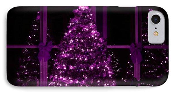 Purple Christmas Phone Case by Lori Deiter