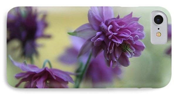 Purple Columbine Phone Case by  Andrea Lazar