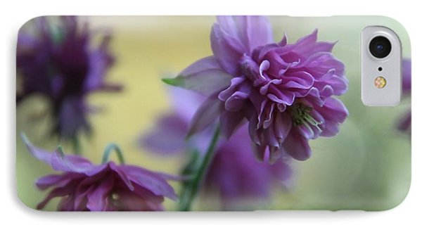 Purple Columbine IPhone Case by  Andrea Lazar