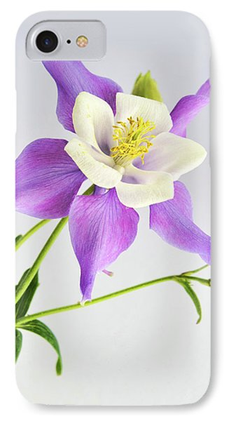 IPhone Case featuring the photograph  Purple Columbine by Ann Bridges