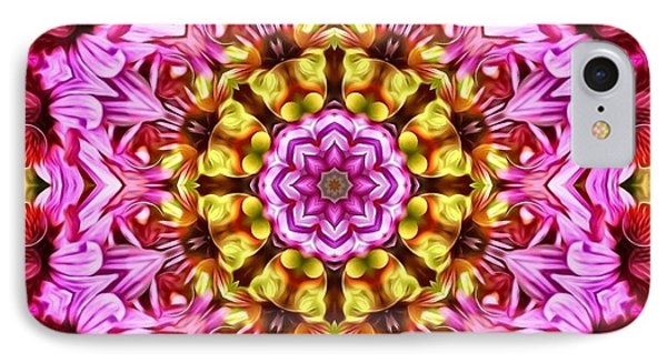 Purple Coneflower Mandala IPhone Case by Barbara Knowles