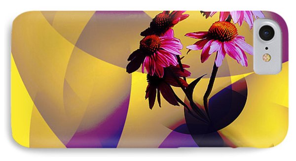 Purple Coneflowers IPhone Case by Patricia Motley