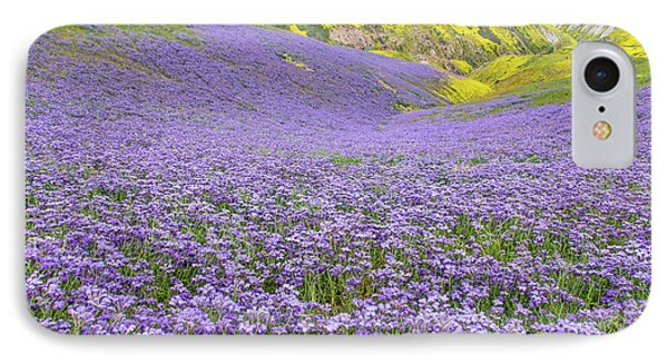 IPhone Case featuring the photograph Purple  Covered Hillside by Marc Crumpler