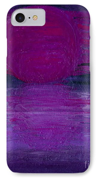 IPhone Case featuring the painting Purple Dawn by Ania M Milo
