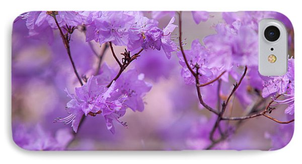 IPhone Case featuring the photograph Purple Delight. Spring Watercolors by Jenny Rainbow