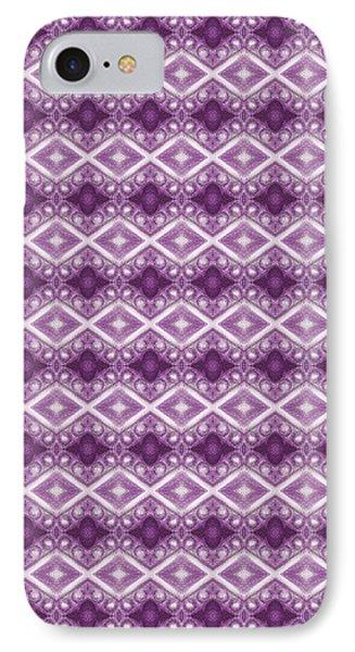 IPhone Case featuring the digital art Purple Diamonds by Elizabeth Lock
