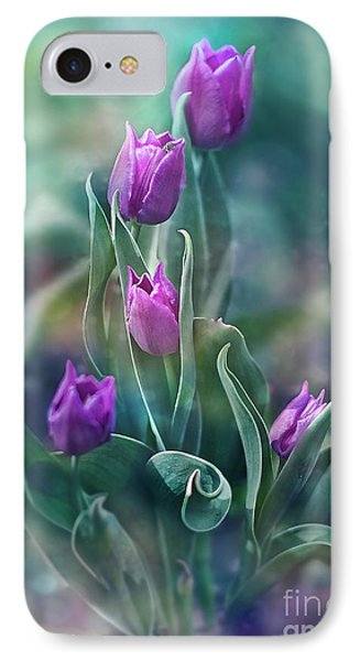 Purple Dignity IPhone Case by Agnieszka Mlicka