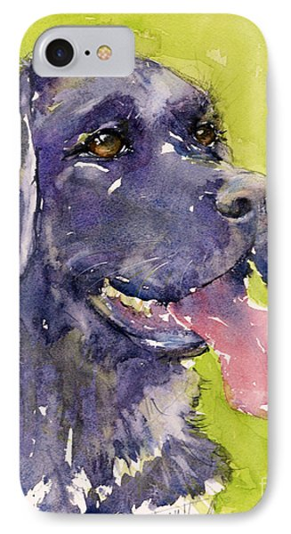 Purple Dog IPhone Case by Judith Levins