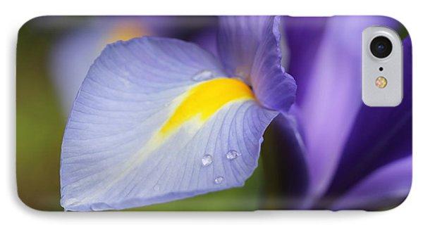 Purple Dutch Iris Flower Macro Phone Case by Jennie Marie Schell