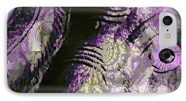 Purple Elephant IPhone Case by Fania Simon