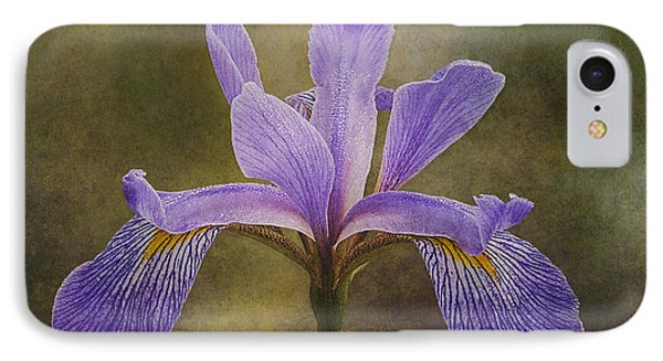 Purple Flag Iris IPhone Case by Patti Deters
