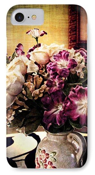 Purple Floral Arrangement Phone Case by Joan  Minchak