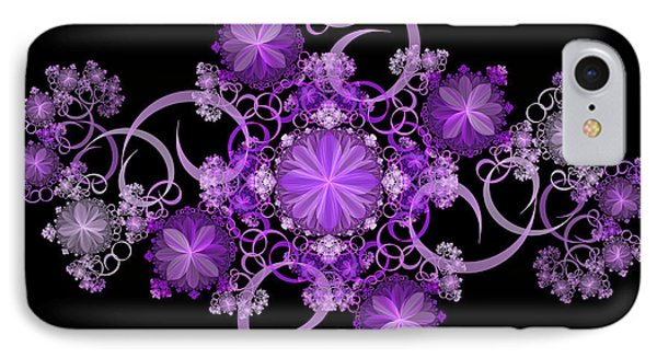 IPhone Case featuring the photograph Purple Floral Celebration by Sandy Keeton