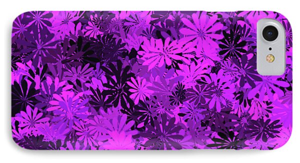Purple Floral Pattern IPhone Case by Aimee L Maher Photography and Art Visit ALMGallerydotcom