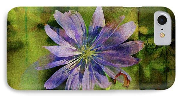 Purple Flower Abstract IPhone Case by Deborah Benoit