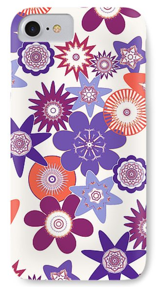 Purple Flower Fantasy IPhone Case by Methune Hively