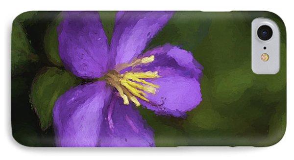 IPhone Case featuring the photograph Purple Flower Macro Impression by Dan McManus