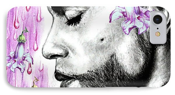 Purple Flower Rain  Prince, Roger Nelson IPhone Case by Heidi Kriel