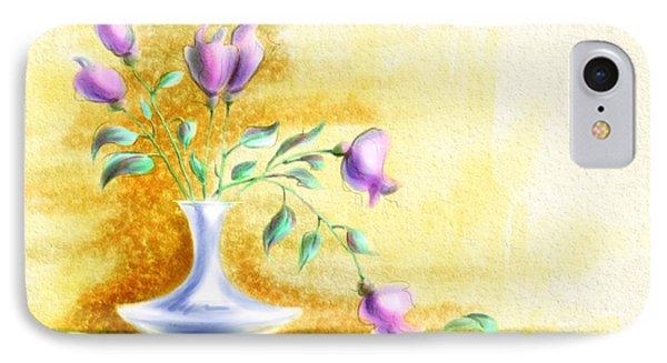 Purple Flowers In Vase IPhone Case