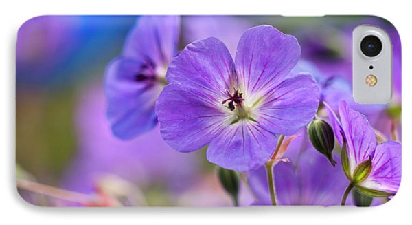 Purple Flowers Phone Case by Rae Tucker