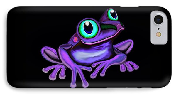 IPhone Case featuring the painting Purple Frog  by Nick Gustafson