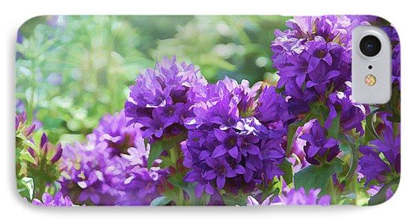 Purple Garden IPhone Case by Elaine Manley