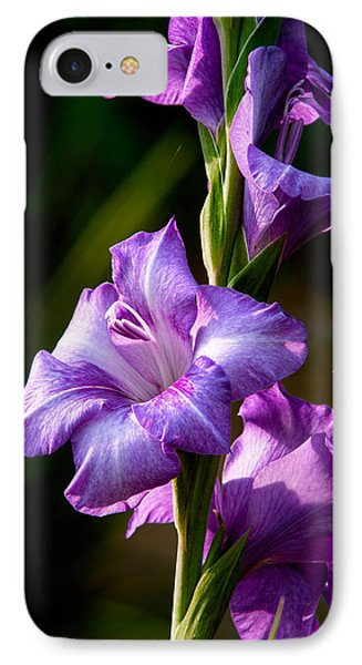 Purple Glads Phone Case by Christopher Holmes