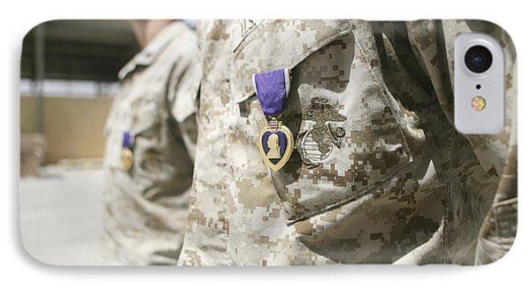 Purple Heart Recipients Phone Case by Stocktrek Images
