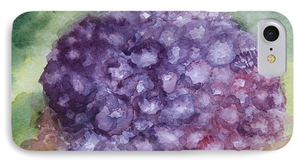 IPhone Case featuring the painting Purple Hydrangea by Donna Walsh