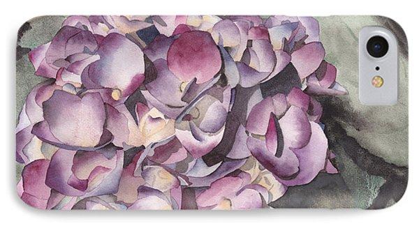 Purple Hydrangea IPhone Case by Ken Powers