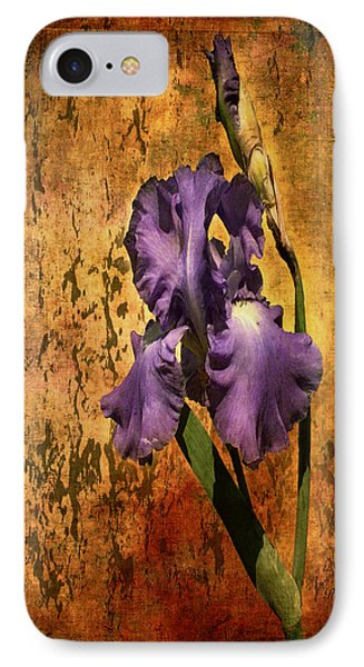 Purple Iris At Sunset IPhone Case by Bellesouth Studio