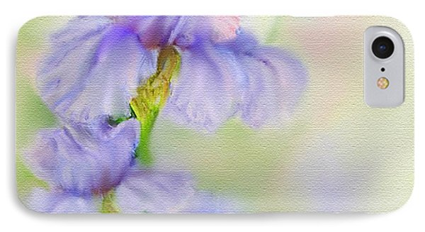 IPhone Case featuring the painting Purple Iris by Bonnie Willis