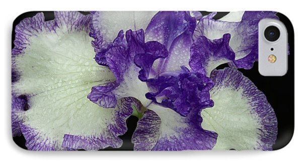 IPhone Case featuring the photograph Purple Iris Frills by Jean Noren