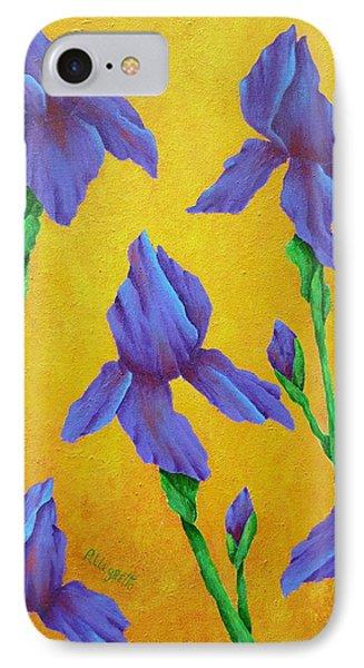 Purple Iris Phone Case by Pamela Allegretto