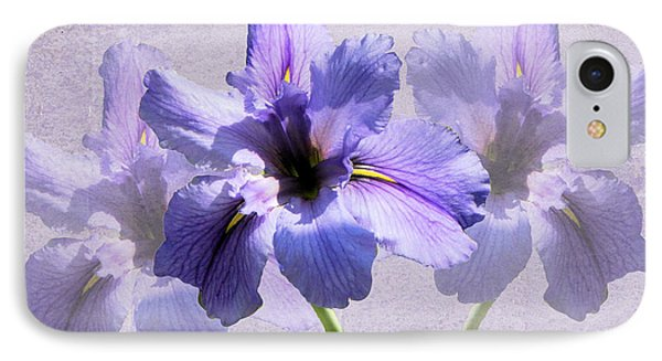 Purple Irises IPhone Case by Rosalie Scanlon