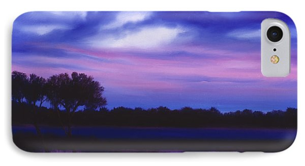 Purple Landscape Or Jean's Clearing Phone Case by James Christopher Hill