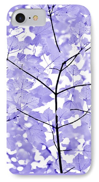 Purple Lavender Leaves Melody Phone Case by Jennie Marie Schell