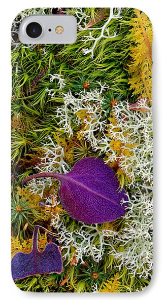 Purple Leaf IPhone Case