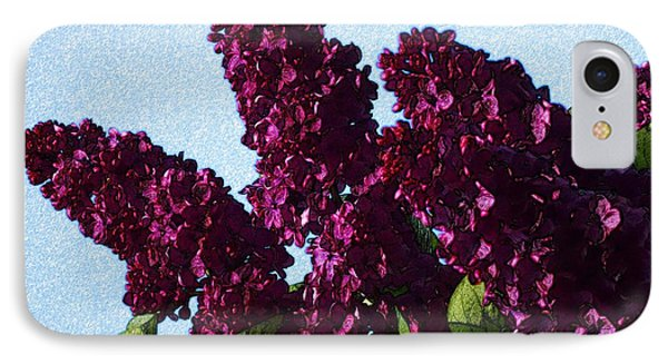 Purple Lilac 3 Phone Case by Jean Bernard Roussilhe
