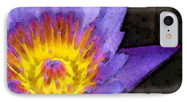 Purple Lotus Flower - Zen Art Painting IPhone Case by Sharon Cummings
