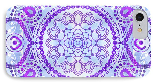 Purple Lotus Mandala IPhone Case by Tammy Wetzel