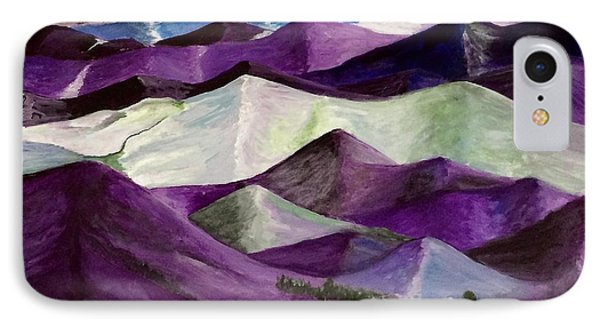 IPhone Case featuring the painting Purple Mountains Majesty by Kim Nelson
