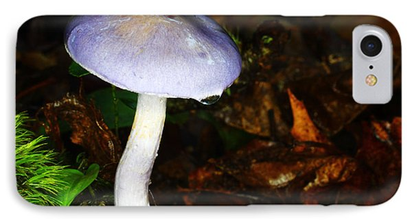 Purple Mushroom Russula Cyanoxantha IPhone Case